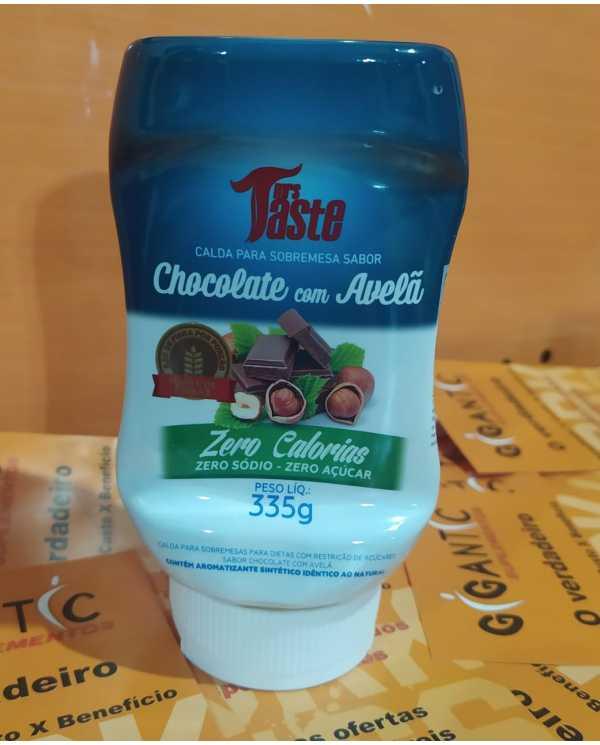 Calda de Chocolate com Avela, Zero calorias, sodio e açucar 335g