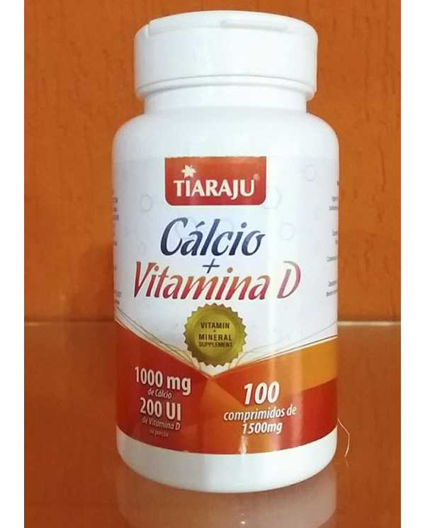 Calcio + Vitamina  D 100 comp de 1500mg