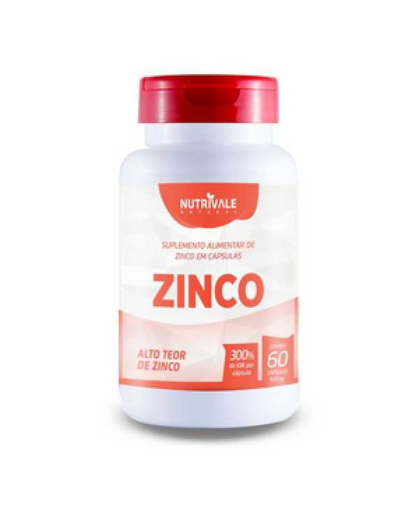 Zinco 500mg 60 cápsulas Nutrivale