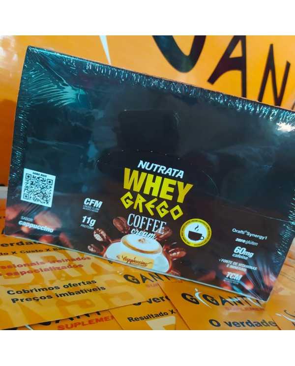 Whey Grego Coffee Cream caixa 12 unidades 40g