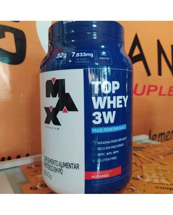 Top Whey 3w 900g + Performance