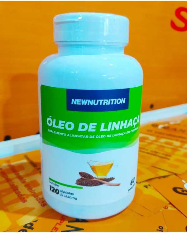 Óleo de Linhaça 120 cápsulas Newnutrition