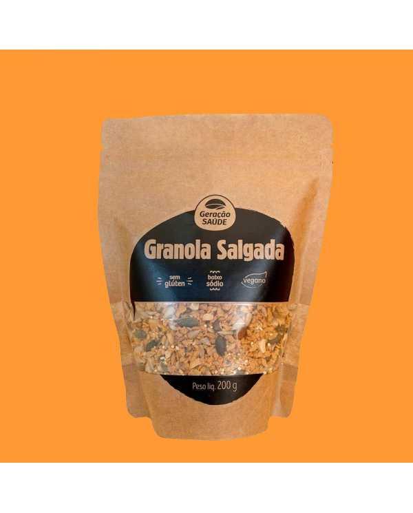 Granola Salgada 200g sem gluten
