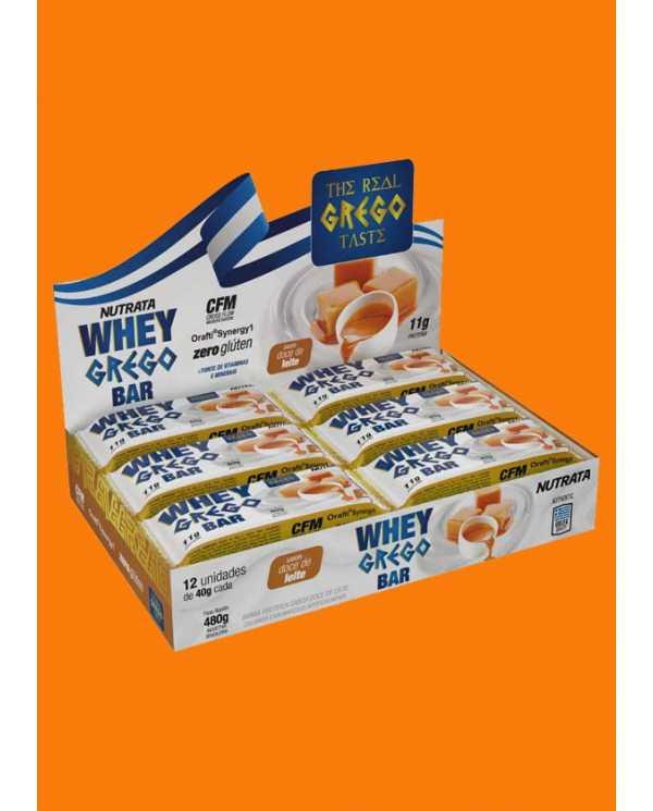 Whey Grego Bar 40g caixa com 12 unidades