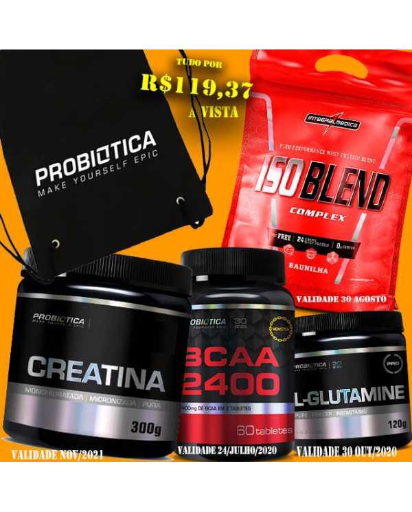 Brinde a sua escolha + ISO BLEND 907G + BCAA 60tabletes + Creatina 300g + Glutamina 120g
