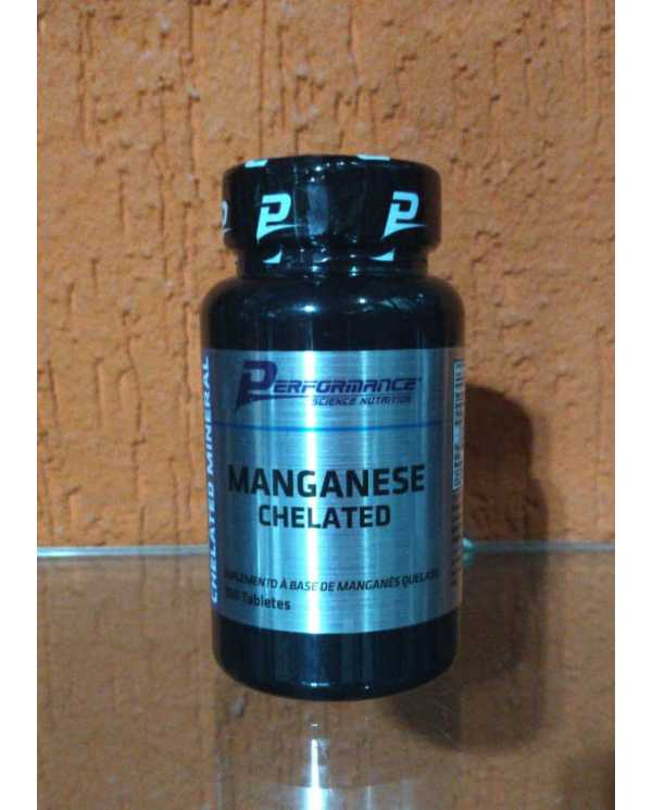 MANGANESE CHELATED 100 TABLETES(MANGANÊS QUELATO PERFORMANCE)