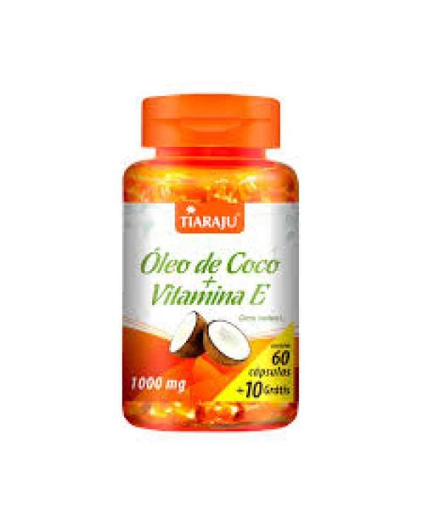 Óleo de coco + vitamina E 1000mg 70 cápsulas
