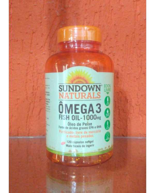 Ômega 3 - Fish Oil 1000mg 120 Capsulas (Oleo de peixe)  Importado