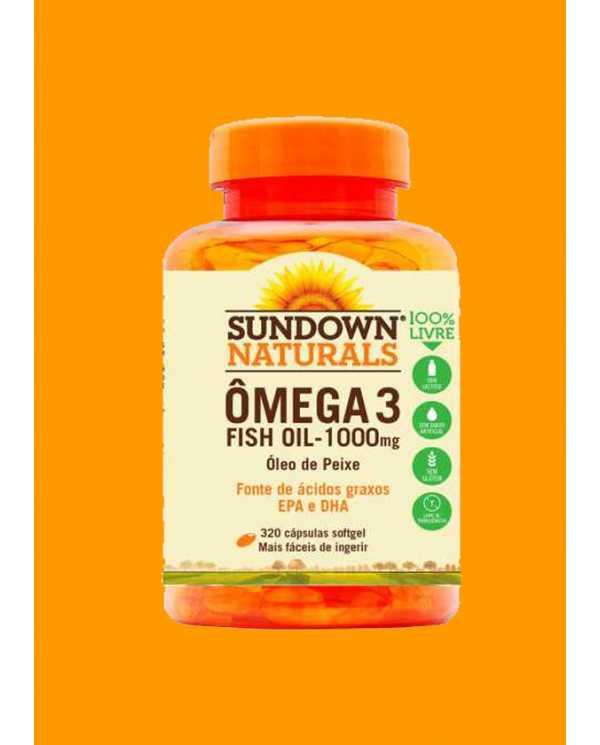 Ômega 3 Fish Oil 1000mg 320 Cápsulas (óleo de peixe)