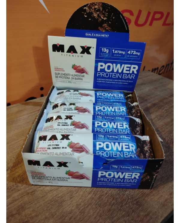 Power Protein Bar caixa 12 unidades 41g cada