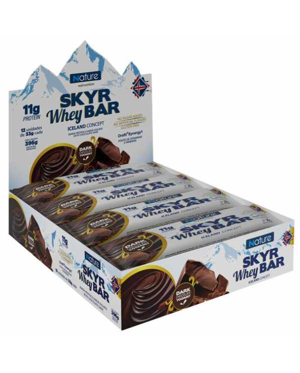 Skyr Whey Bar caixa com12 unidades (SEM  açúcar, glúten, sabores artificiais)