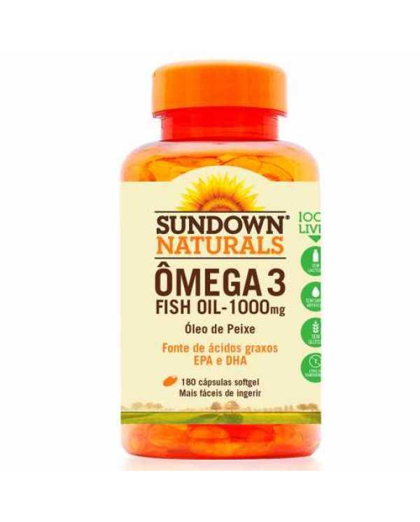 Ômega 3 Fish Oil 1000mg 180 Cápsulas (Óleo de peixe)  importado