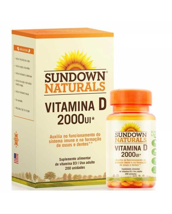 Vitamina D 2000ui por porção 200 cápsulas