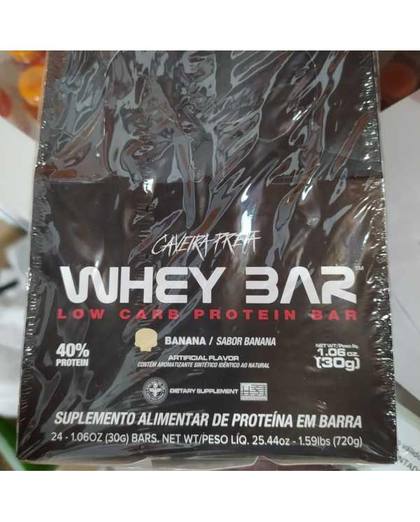 Whey Bar Blackskull caixa com 24 barras de 30g cada