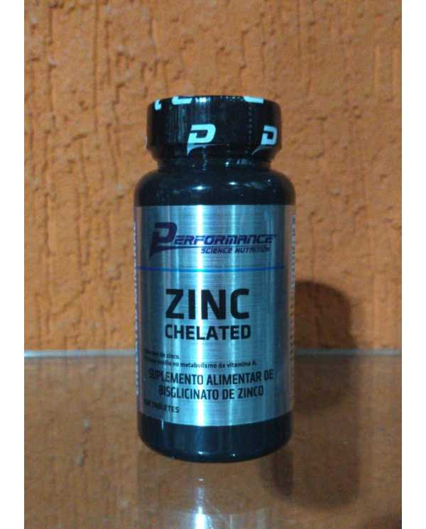 CHELATED ZINC (ZINCO QUELADO) 100 TABLETES PERFORMANCE